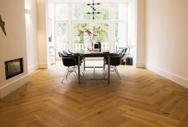 Cinzento visgraat vloer / Louis Tapis Bussum