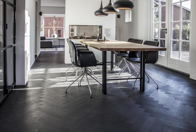 Cinzento visgraat vloer zwart / Louis Tapis Bussum