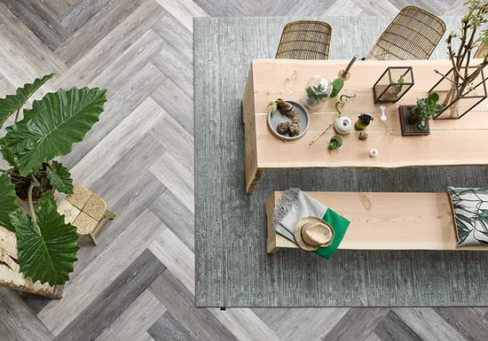 Tarkett ID Essential PVC vloer visgraat motief / Louis Tapis Bussum